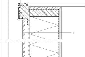 Fassadendetail 1, M 1:10<br />