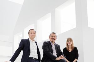 DAM-Team Architekturbiennale (v.l.): Oliver Elser, Peter Cachola Schmal,<br />Anna Scheuermann