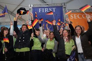 """""""Team Germany"""": Jubel über den Gewinn: Die Studierenden der Universität Darmstadt in Washington DC"""