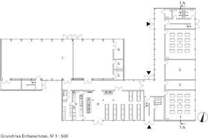 Erdgeschoss, M 1:500