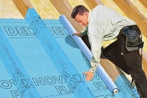 Textilbewehrte Unterlagsbahn für Dacheindeckung
