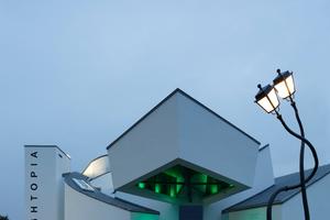 Das Vitra Design Museum beheimatete bis zum 9. März die Ausstellung Lightopia. Besondere Lichtakzente im Außenraum machten darauf aufmerksam<br />