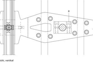 Detail Seilklemme Eckhalter Ansicht vertikal<br />