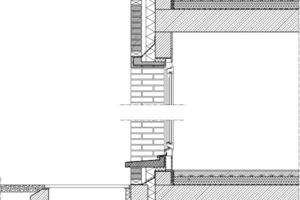 Fassadenschnitt M 1 : 33 1/3<br />