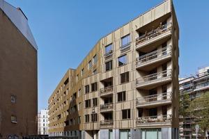 Die Architekten roedig.schop planten Haus C, die Spitze des Gebäudes, sieglundalbert Haus B und DMSW Haus A