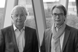 Klaus Bollinger (r.) hat an der Technischen Hochschule in Darmstadt Bauingenieurwesen studiert und 1979 abgeschlossen. Seit 1994 lehrt er Trakgwerkskonstruktion am Fachbereich Architektur an der Universität für angewandte Kunst in Wien. Neben verschiedenen Lehraufträgen ist Herr Bollinger seit&nbsp; 2000 auch Gastprofessor an der Städelschule in Frankfurt. &nbsp;<br />Manfred Grohmann hat sein Studium als Bauingenieur ebenfalls an der Technischen Hochschule in Darmstadt 1979 abgeschlossen. Er ist seit 1996 Professor für Tragwerkskonstruktion am Fachbereich Architektur der Universität Gesamthochschule Kassel. Daneben ist er als Gastprofessor an der Städelschule, Frankfurt (seit 2000) und an der ESA – École d´Architecture, Paris (seit 2007) tätig.<br />&nbsp;<br />Die beiden Partner gründeten 1983 das Büro Bollinger + Grohmann Ingenieure. In den letzten 30 Jahren haben Bollinger + Grohmann an der Entwicklung von Planen und Bauen mitgewirkt und sich insbesondere im Zusammenhang mit freien Formen jenseits der geometrischen Regelmäßigkeit einen Namen machen können. Als Antwort auf die Komplexität der heutigen Architektur verbindet Bollinger + Grohmann das hohe Niveau interdisziplinärer Kompetenzen der Architekturgeometrie, der Entwicklung entsprechender Software, neuer Material- und Fabrikationstechnologien mit ihrem Fachwissen als Bauingenieure.<br />&nbsp;<br />Das Büro ist mittlerweile mit fast 150 Mitarbeitern an sechs Standorten aktiv (Frankfurt, Berlin, Wien, Paris, Oslo, Melbourne). Das Leistungsspektrum reicht von den Schwerpunkten in der Tragwerks- und Fassadenplanung über Geometrie-Entwicklung, Fassadenplanung bis zur Bauphysik.