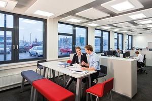 Die räumliche Pegelminderung ist besonders in modernen Bürosituationen (Open Plan Office) von Bedeutung, wenn ein Konflikt von Konzentration und Kommunikation zu vermeiden ist