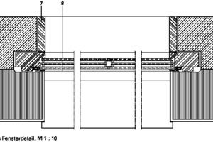 Fensterdetail 3, M 1:10