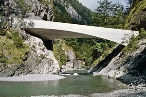 Die Schanerlochbrücke besitzt eine Spannweite von 20m