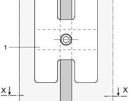 Detail Seilklemme Mittlerer Halt, Punkthalter<br />