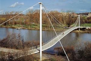 Prinzip des Leichtbaus: Max-Eyth-See Brücke, Stuttgart