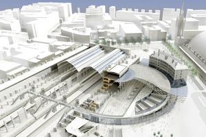 Alle architektonischen Eingriffe Von John McAslan + Partner konzentrierte sich auf die Reparatur der alten Bahnhofsstruktur-dem Wiederaufbau des Nord-Westflügels-das Freiräumen der Bahnhofshallen-der Schaffung der Western-Concourse Verteilerhalle