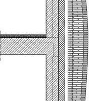 Fassadenteilschnitt, M 1:75<br />