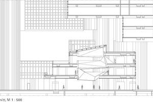 Schnitt Foyer, M 1:500