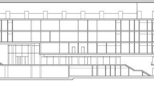 Schnitt AA, Praktikumsgebäude, M 1:1000