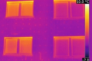 Thermografie einer Fassade mit Wärmedämmverbundsystem<br />