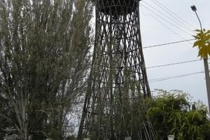 Der Wasserturm in Mykolajiw, Ukraine, ist ein typisches Exemplar der Gittertürme Vladimir G. Schuchovs.