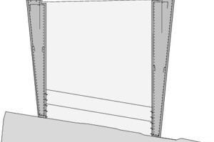 Detailschnitt 1 Schaufelschluchtbrücke, M 1: 100
