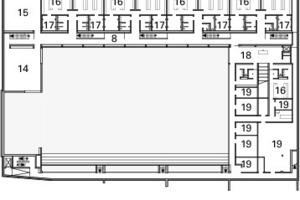 Grundriss Ebene -1, M 1:1250<br />