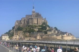 Mont Saint Michel im äußersten Westen Frankreichs