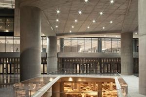 """<div class=""""9.6 Bildunterschrift"""">Unter dem Museum befindet sich ein 4000m² großes Ausgrabungsfeld mit Überresten einer frühchristlichen Siedlung</div><div class=""""9.6 Bildunterschrift""""></div>"""