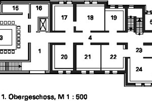Grundriss 1. Obergeschoss, M 1:500