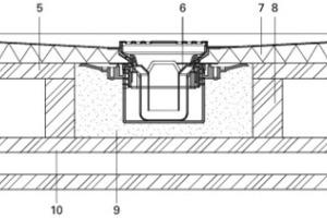 Der Einbau in/auf einer Holzbalkendecke zeigt die eigentlichen Vorzüge der Elementbauweise. Der Ablauf wird in die zu erstellende Aussparung eingemörtelt. Dazu muß hier eine kleine Hilfskonstruktion durch eine stabile Unterfangung geschaffen werden<br />