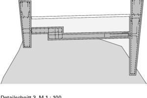 Detailschnitt 3 Schaufelschluchtbrücke, M 1 : 100