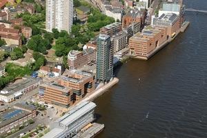Holzhafen, Hamburg, Bürogebäude, Wohnen und Arbeiten, KCAP/ASTOC, 1999-2003<br /><br />