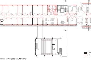 Grundriss 1. Obergeschoss, Ebene 1, M 1:500