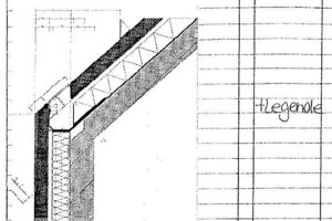 Detail Traufe Neubau, M 1:33 <sup>1</sup>/3