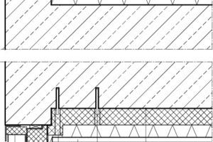 Detail Boden-/Deckenanschluss, M 1:12,5