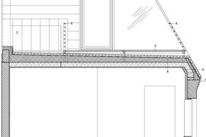 Detailschnitt Bauteil F, M 1:50