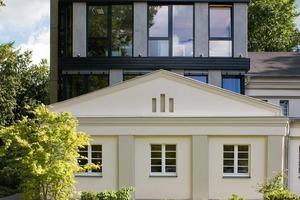 Das Projekt besteht aus dem 1922 erbauten, unter Denkmalschutz stehenden Maschinengebäude des Schachts 3 der Zeche Glückaufsegenund dem viergeschossigen Neubau<br />
