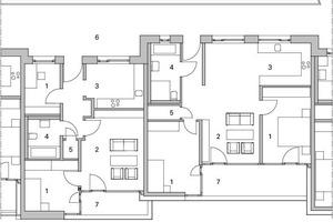 Teilgrundriss 4, Obergeschoss, M 1:200