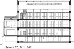 Schnitt CC, M 1:500