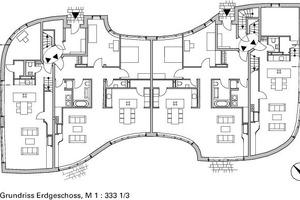 Grundriss Erdgeschoss, M 1:333<sup>1</sup>/3