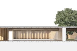 Der Holzpavillon soll als Begegnungsstätte und Rückzugsort dienen