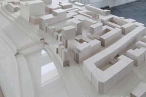 Modell der geplanten Werkbundstadt<br />