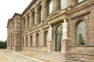Ansicht Neue Galerie Südostseite (Wandelhalle unten, Loggia oben, zur Karlsaue gewandt)