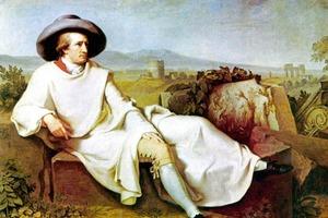Kulturreisender par Excellence: J. W. von Goethe, gemalt von Herrn Tischbein, 1787 in Rom<br />