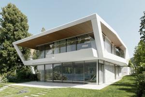 Wohnhaus in Pötschach/A: Glasfaserbeton-Fertigteile