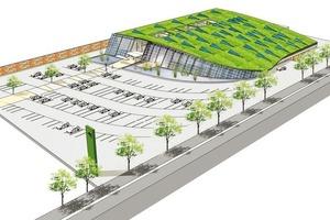 Im Rahmen des EcoCommercial Building Programms ist eine Studie für einen nachhaltigen Supermarkt entstanden, mit einem 75% geringerem Energieverbrauch als ein herkömmlicher Supermarkt gleicher Größe<br />