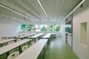 Sämtliche Lehrräume orientierten die Architekten zur ruhigen Parkseite im Nordwesten<br />