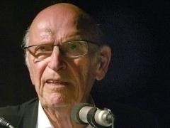 Max Bächer anläßlich seines Vortrags über die Weißenhofsiedlung am 23. Juli 2007 in Stuttgart