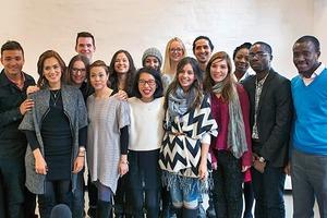 Die Gruppe der Studierenden, die die Arbeitsplätze untersuchten