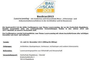 Die BauScan 2013 findet in Magdeburg statt<br />