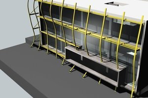 Prinzip des Fassadenaufbaus