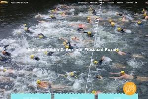 Schwimmen in der Spree: Filmstil vom ersten Schwimmwettbewerb 2015