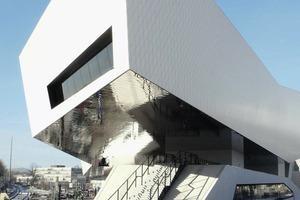 Porsche-Museum, Zuffenhausen. Beratung, Detailierung und Ausschreibung der Glas- und Blechfassaden durch R+R Fuchs<br />